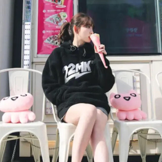 AKB48 - 22market  Teddy hoodie ボアパーカー ブラック