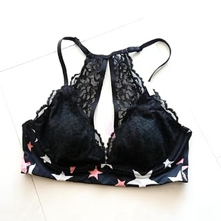 Dream Angels by Victoria Secret Pretty Floral Print /& Lace Demi Bra 36C ♡ ♡ NEW