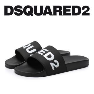 ディースクエアード(DSQUARED2)の4 DSQUARED2 ブラック ラバー サンダル シャワーサンダル 40(サンダル)