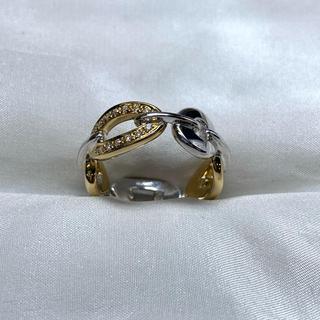 ヨンドシー(4℃)の●RUGIADA k18wg ダイヤモンド チェーン リング(リング(指輪))