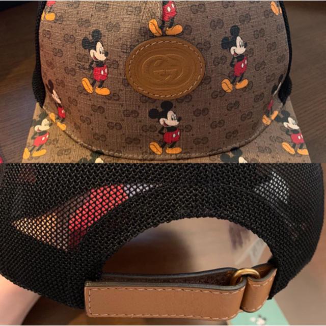 Gucci(グッチ)のお値下げ!希少Mサイズ!!ディズニー×GUCCIキャップ 新品未使用!! レディースの帽子(キャップ)の商品写真