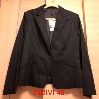 インディヴィ(INDIVI)の大きいサイズ INDIVI 48 ジャケット(テーラードジャケット)