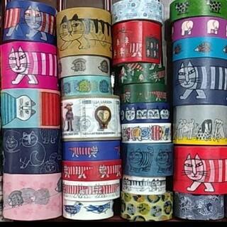 リサラーソン(Lisa Larson)のリサラーソン大好きマステ☆切り売り30㎝☆巨大マイキーフレークシール(テープ/マスキングテープ)