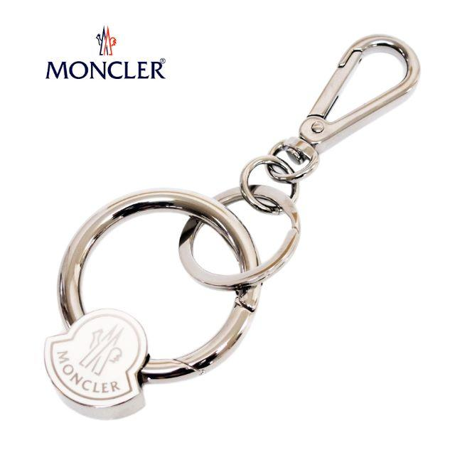 MONCLER(モンクレール)の専用 MONCLER モンクレール  ホワイト&シルバー キーリング メンズのファッション小物(キーホルダー)の商品写真