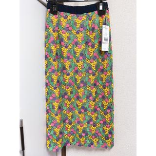 グレースコンチネンタル(GRACE CONTINENTAL)のGRACE CONTINENTAL スモールフラワータイトスカート(ロングスカート)