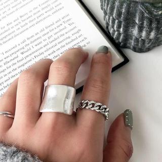 カルバンクライン(Calvin Klein)のチェーンシルバーリングS925(リング(指輪))