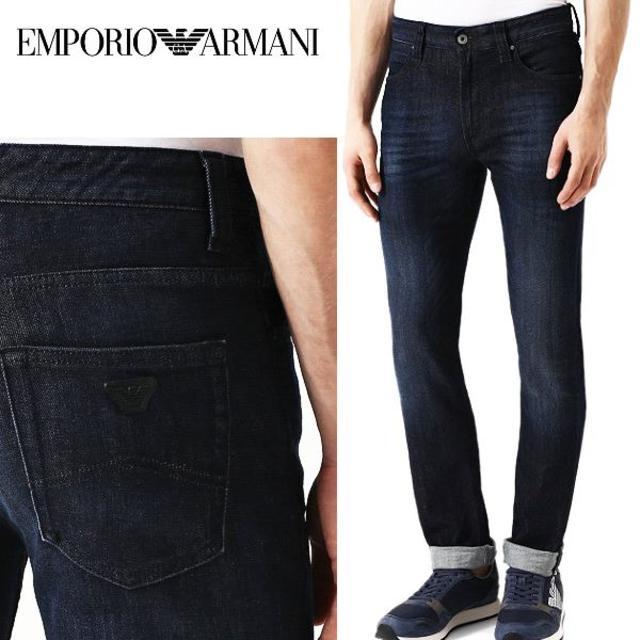 Emporio Armani(エンポリオアルマーニ)の28 EMPORIO ARMANIREGULAR FIT インディゴデニム30 メンズのパンツ(デニム/ジーンズ)の商品写真