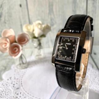 FENDI - 【電池交換済み】FENDI フェンディ 腕時計 7000L ブラック 12P