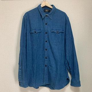 ダブルアールエル(RRL)のRRL 本藍染め インディゴ ワークシャツ Men's XL(シャツ)