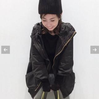 L'Appartement DEUXIEME CLASSE - REMI RELIEF Nylon Zip Up ジャケット◆ブラック