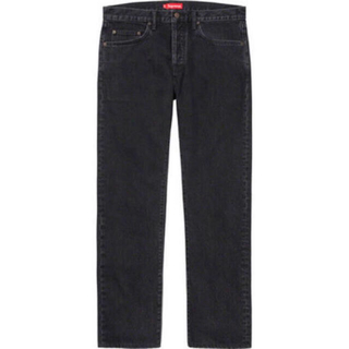 Supreme - Supreme Stone Washed Black Slim Jeans 30