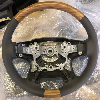トヨタ(トヨタ)のプラド150後期 TZ-G純正ウッドコンビステアリング ベージュ内装 新品未使用(車種別パーツ)