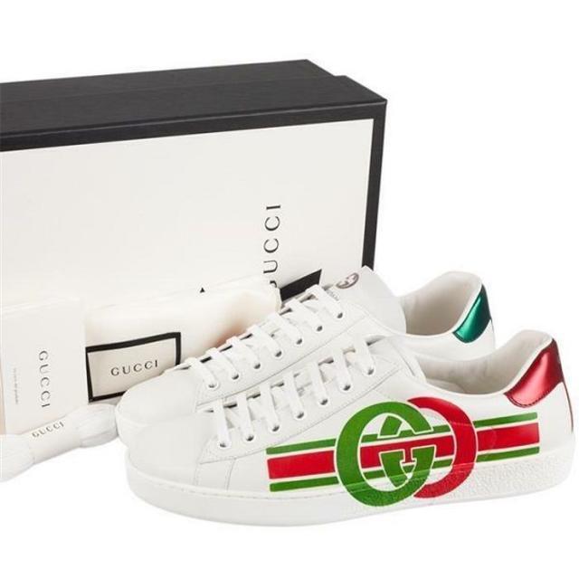 Gucci(グッチ)の01 GUCCI 19awエース インターロッキングGスニーカー8.5 メンズの靴/シューズ(スニーカー)の商品写真