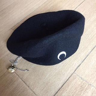 marine serre ベレー帽 ウール ブラック