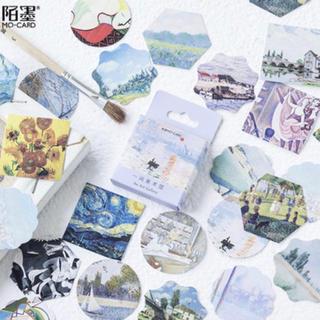 アンティーク風美術館の森ステッカーシール46枚(シール)