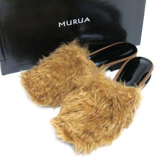 ムルーア(MURUA)のK00061/MURUA カーリーフェイクファーサボ 36(その他)