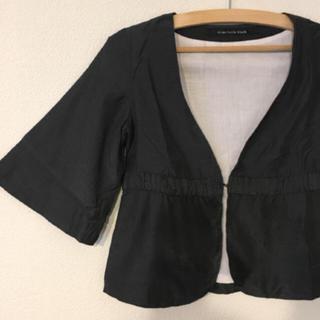 美品♡シップス 五分袖 ノーカラージャケット