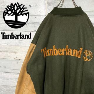 Timberland - 【激レア】ティンバーランド☆希少 ヴィンテージ 刺繍ビッグロゴ レザースタジャン
