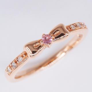 ヨンドシー(4℃)のトクトクジュエリー✨4℃ リボンモチーフ ダイヤモンド リング(リング(指輪))