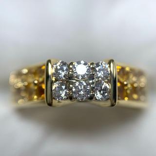 JEUNET サファイア ダイヤモンド グラデーション リング(リング(指輪))