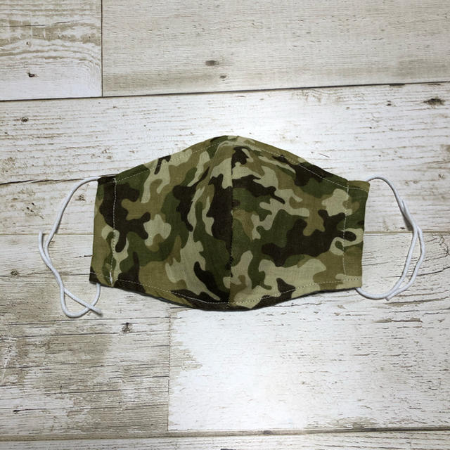 ハンドメイド  Wガーゼ立体マスクの通販