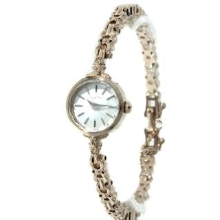 アガット(agete)のagete ラウンドフェイス ジュエリーウォッチ K10WG 時計(腕時計)
