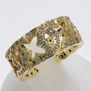 k18yg イエローゴールド ダイヤモンドリング 指輪 メンズ(リング(指輪))