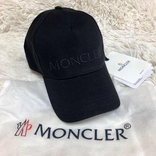 MONCLER - 新品 新作 モンクレール  ロゴ ベースボールキャップ ブラック ロゴ ラメ