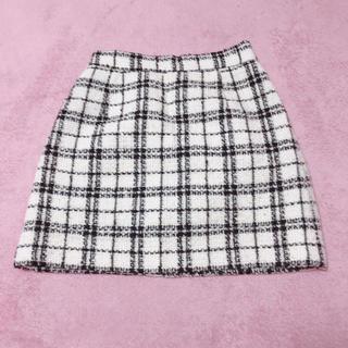 チェック 台形スカート