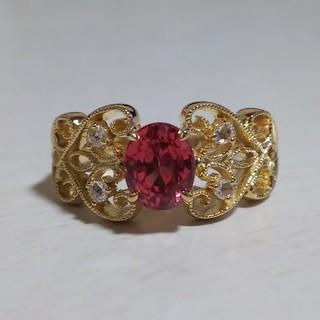 ピンクスピネル ダイヤモンド K18YG リング(リング(指輪))