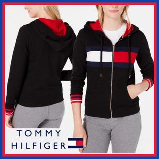 TOMMY HILFIGER - 日本未入荷★トミーヒルフィガー フード ジップ パーカー ブラック