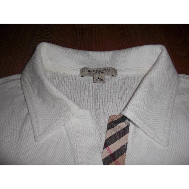 BURBERRY(バーバリー)の中古美品 バーバリーロンドン 半袖ポロシャツ 白 M レディースのトップス(ポロシャツ)の商品写真