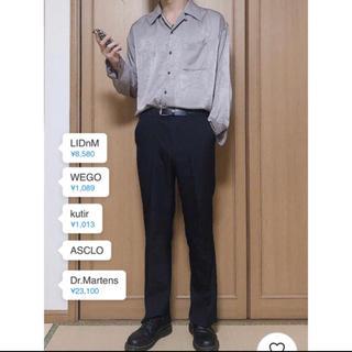 HARE - リドム LIDNM ビンテージサテンオープンカラーシャツ