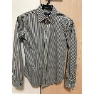 Ralph Lauren - 新品未使用 ラルフローレン ストライプシャツ 白×ネイビー