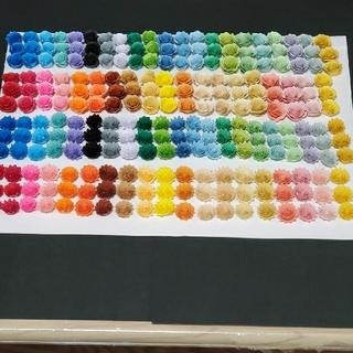 OPEN ★レメリア shop★デコパーツ 花 240個デコ用パーツ 40色です(カード/レター/ラッピング)
