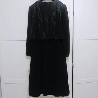 ニッセン(ニッセン)のブラックフォーマル礼服 ワンピース 15号(礼服/喪服)
