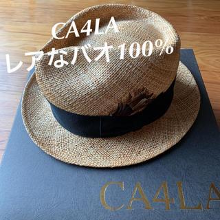 カシラ(CA4LA)のCA4LA 天然素材 バオ100% ハット UV対策 リゾート カシラ 送料込(麦わら帽子/ストローハット)