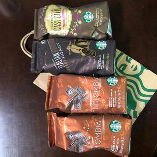 スターバックスコーヒー(Starbucks Coffee)のスターバックス コーヒー豆 4袋(コーヒー)