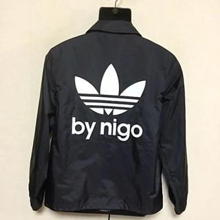 アディダス(adidas)の希少 NIGO アディダス  コーチジャケット XL 黒(ナイロンジャケット)