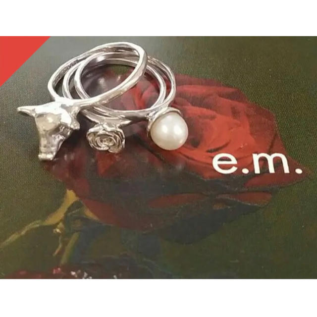 e.m.(イーエム)のe.m.3連リング レディースのアクセサリー(リング(指輪))の商品写真