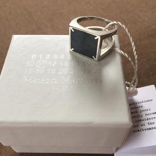 Maison Martin Margiela - 20SS新品L メゾンマルジェラ 4ステッチ リング 指輪 今期 ブラック