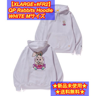 XLARGE - 【XLARGE×♯FR2】QP Rabbits Hoodieパーカー M 白