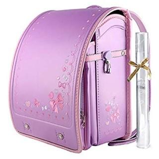 ランドセル パール ラベンダー 紫 パープル ピンク 刺繍