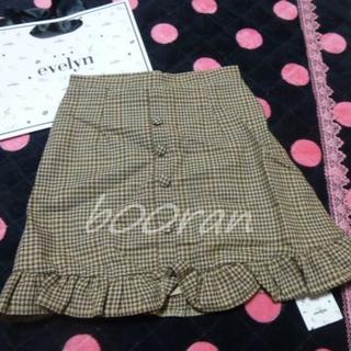 evelyn - evelynエブリン♡裾フリルチェック柄スカート