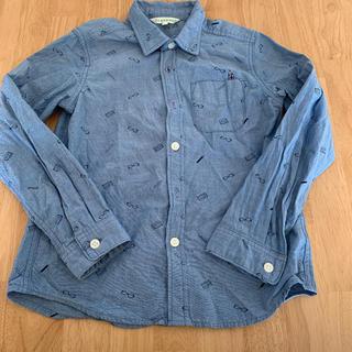 サンカンシオン(3can4on)の【3can4on】ジュニア 130㎝ メガネ柄 ブルーシャツ(Tシャツ/カットソー)