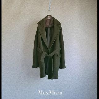 マックスマーラ(Max Mara)の超高級 美品 マックスマーラ 一級品ベルトコート 希少カーキ系 ウィークエンド(チェスターコート)