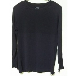 長そで Tシャツ 黒 レディース LL(Tシャツ(長袖/七分))