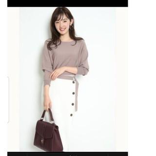 ジャスグリッティー(JUSGLITTY)の新品 ジャスグリッティー  配色ボタン ニットアップ セットアップ スカート(セット/コーデ)