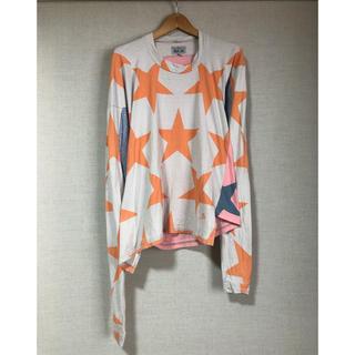 ヴィヴィアンウエストウッド(Vivienne Westwood)の古着 viviennewestwood 星柄カットソー アシンメトリー(Tシャツ/カットソー(七分/長袖))
