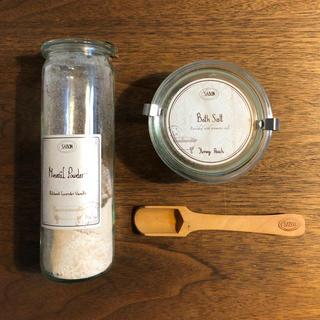 サボン(SABON)のSABON  WECK瓶入り入浴剤セット スプーン付き(入浴剤/バスソルト)